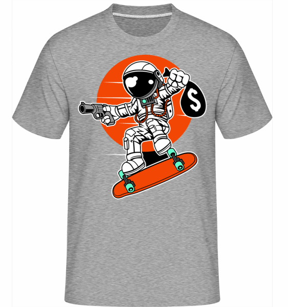 Astronaut Longboard -  Shirtinator Men's T-Shirt - Heather grey - Vorn