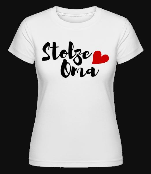 Stolze Oma - Shirtinator Frauen T-Shirt - Weiß - Vorn