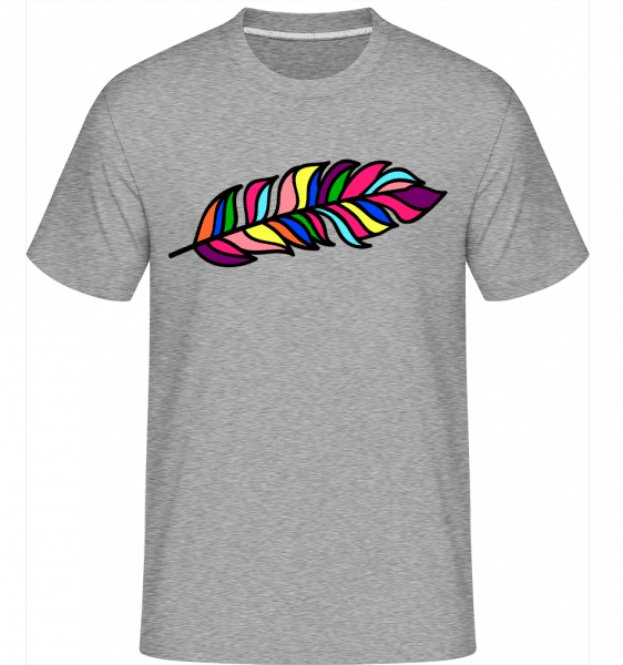 Feather Sign Rainbow -  Shirtinator Men's T-Shirt - Heather grey - Vorn