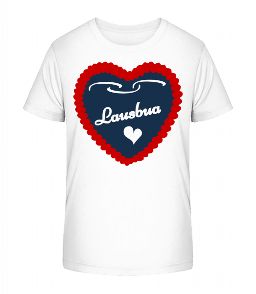 Lausbua - Kinder Premium Bio T-Shirt - Weiß - Vorn