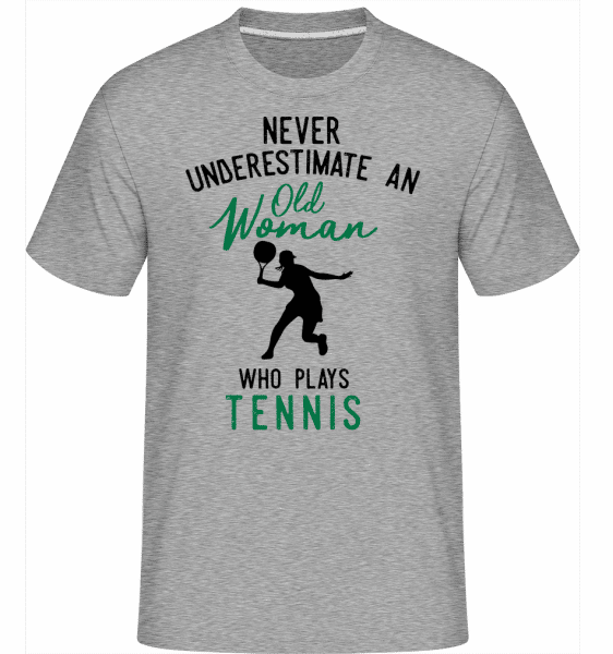 Never Underestimate Old Woman -  Shirtinator Men's T-Shirt - Heather grey - Front