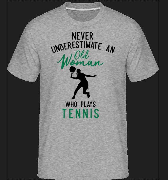 Never Underestimate Old Woman -  Shirtinator Men's T-Shirt - Heather grey - Vorn