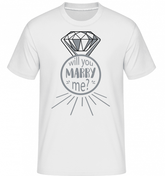 Will You Marry Me? -  Shirtinator Men's T-Shirt - White - Vorn