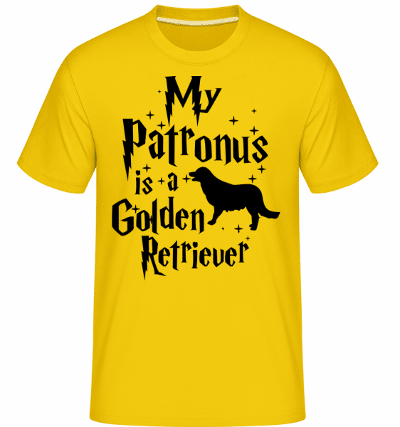 My Patronus Is A Golden Retrieve -  Shirtinator Men's T-Shirt - Golden yellow - Vorn