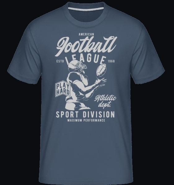 Football League -  Shirtinator Men's T-Shirt - Denim - Vorn