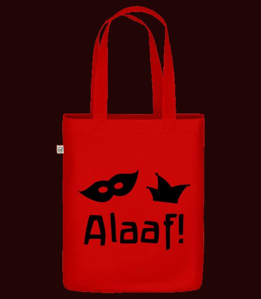 """Alaaf! - Organic """"Earth Positive"""" tote bag - Red - Vorn"""