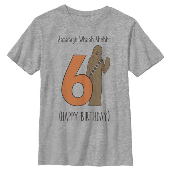 Whaah Birthday Chewbacca - Star Wars - Kids T-Shirt - Heather grey - Front