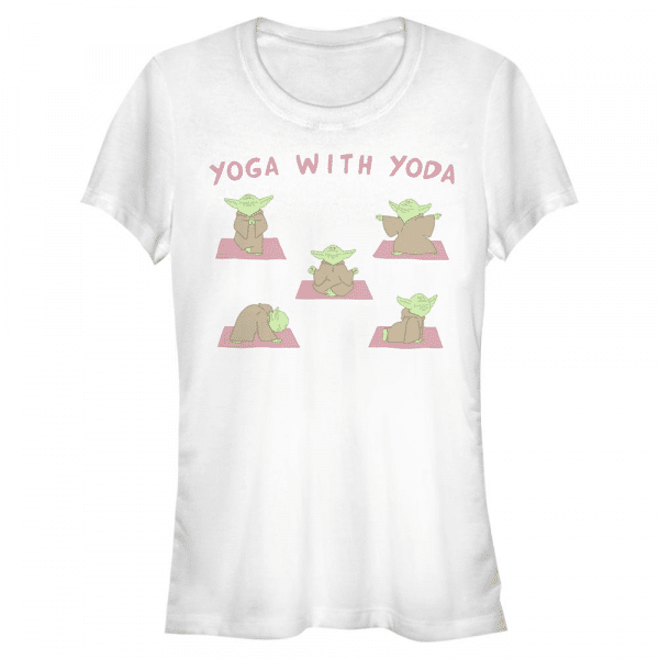 Yoga with Yoda - Star Wars - Women's T-Shirt - White - Front