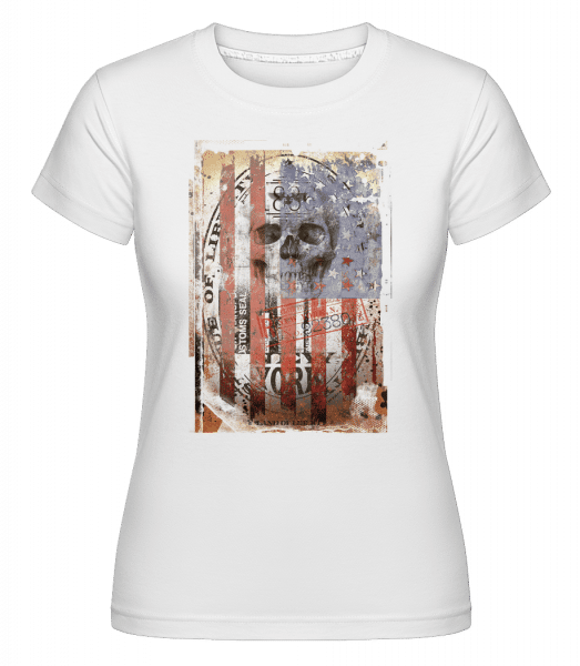 New York Skull -  Shirtinator Women's T-Shirt - White - Vorn