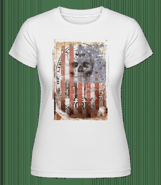 New York Skull -  Shirtinator tričko pre dámy - Biela - Predné