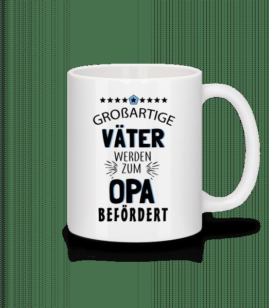 Beförderung Zum Opa - Tasse - Weiß - Vorn