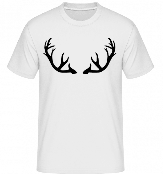 Deer Antlers -  Shirtinator Men's T-Shirt - White - Vorn