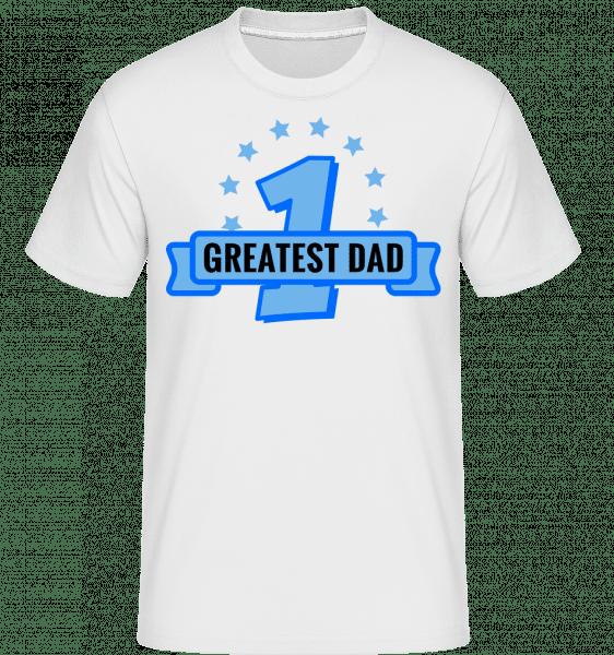Greatest Dad - Shirtinator Männer T-Shirt - Weiß - Vorn
