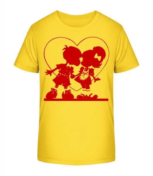 Children In Love - Kid's Premium Bio T-Shirt - Yellow - Vorn