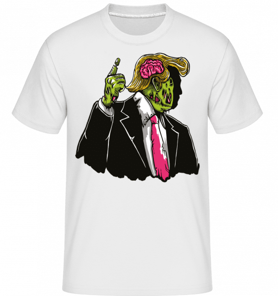 Make Zombie Great Again -  Shirtinator Men's T-Shirt - White - Vorn