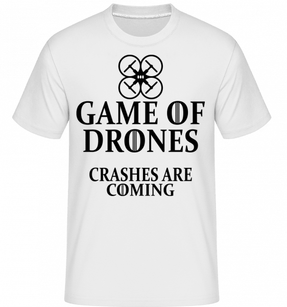 Game Of Drones -  Shirtinator Men's T-Shirt - White - Vorn