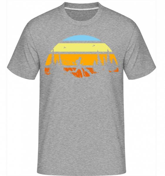 Mountain Run -  Shirtinator Men's T-Shirt - Heather grey - Front