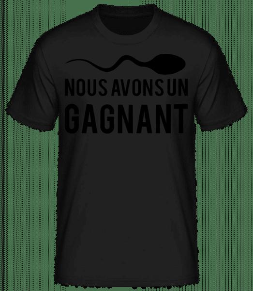 Sperme Gagnant - T-shirt standard Homme - Noir - Devant