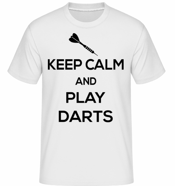 Keep Calm And Darts -  T-Shirt Shirtinator homme - Blanc - Devant