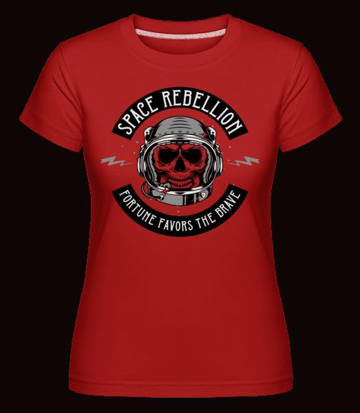 Space Rebellion -  Shirtinator Women's T-Shirt - Red - Vorn