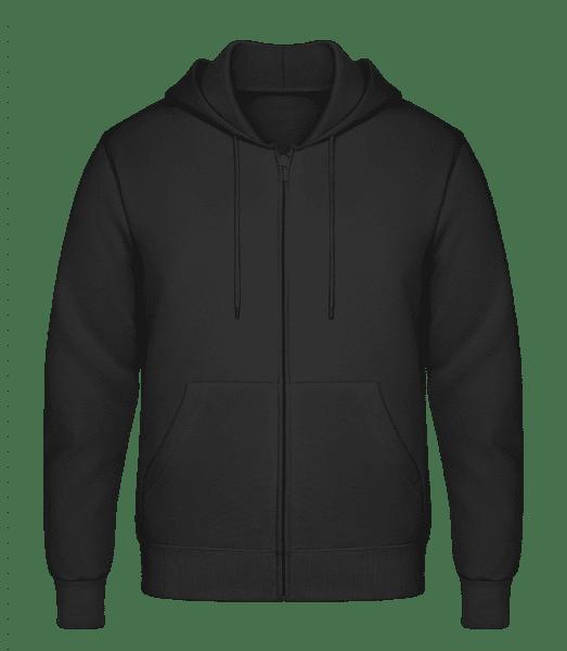 Men's Sweatjacket - Black - Front