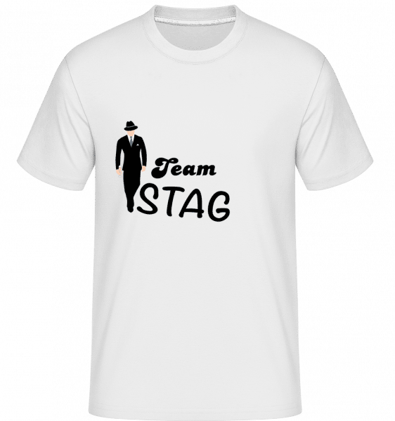 Team Stag -  Shirtinator Men's T-Shirt - White - Vorn