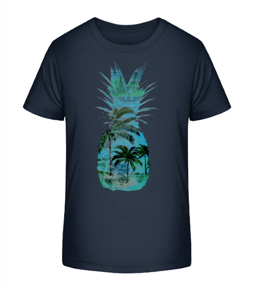 Pineapple Palms - Kid's Premium Bio T-Shirt - Navy - Vorn
