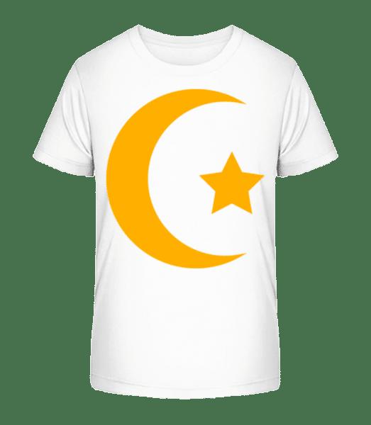 Moon And Star Icon Yellow - Kid's Premium Bio T-Shirt - White - Vorn