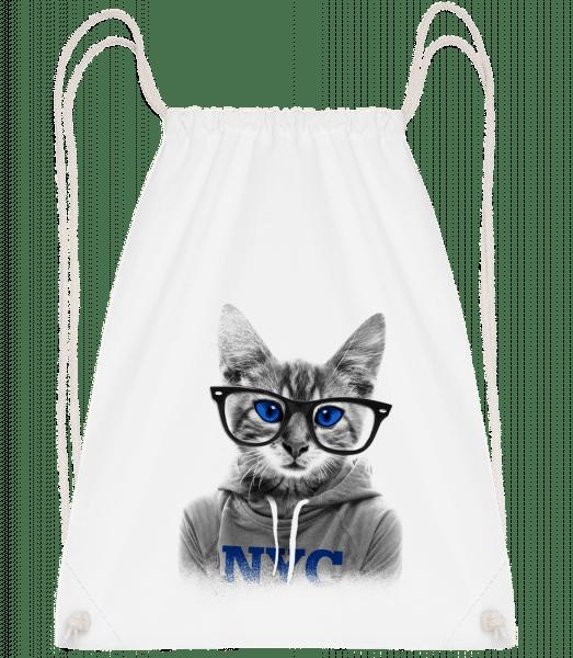 Cat NCY - Turnbeutel - Weiß - Vorn