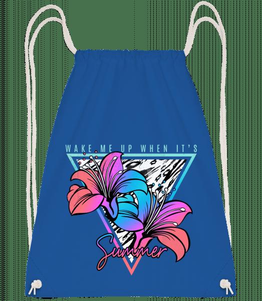 Wake Me Up When It's Summer - Drawstring Backpack - Royal blue - Vorn