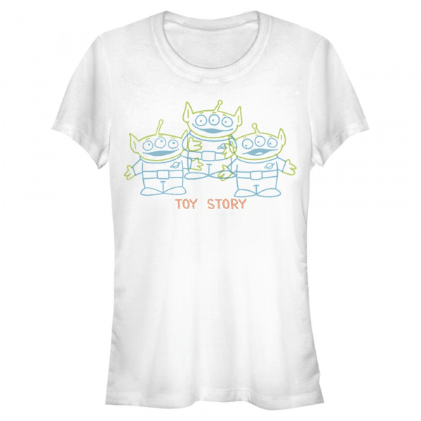 Scribble Aliens - Pixar Toy Story 1-3 - Women's T-Shirt - White - Front