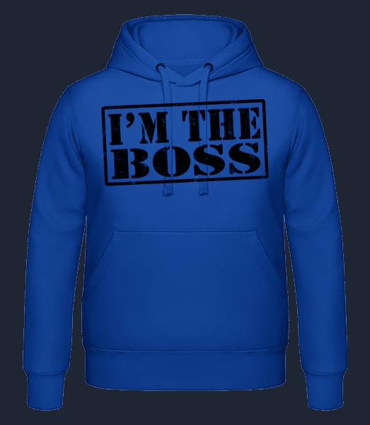 I'm The Boss - Men's hoodie - Royal blue - Vorn