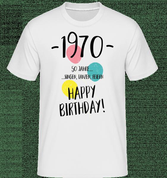 1970 50 rokov -  Shirtinator tričko pre pánov - Biela - Predné