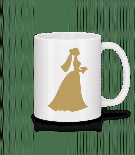 nevěsta Comic - Keramický hrnek - Bílá - Napřed