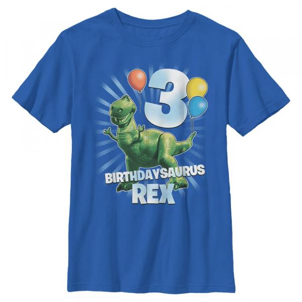 Ballon Rex 3 - Pixar Toy Story 1-3 - Kids T-Shirt - Royal blue - Front