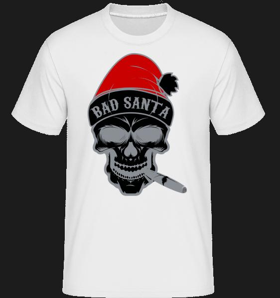 Bad Santa Skull - Shirtinator Männer T-Shirt - Weiß - Vorn