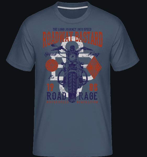 Roadway Bastard -  Shirtinator Men's T-Shirt - Denim - Vorn