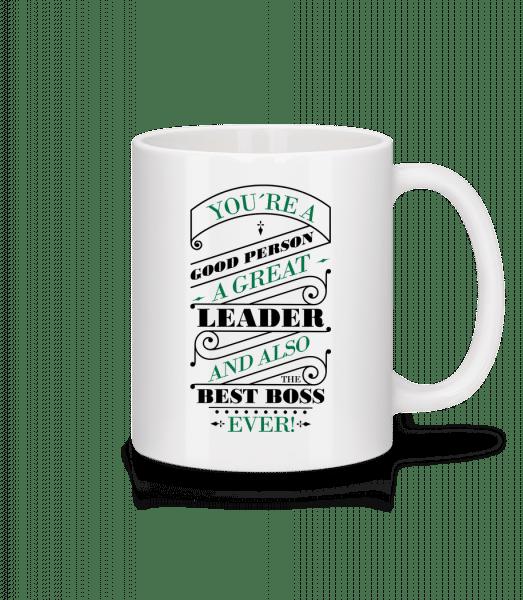 Best Boss Ever - Mug - White - Vorn