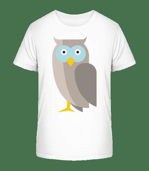 Owl Comic - Kid's Premium Bio T-Shirt - White - Front