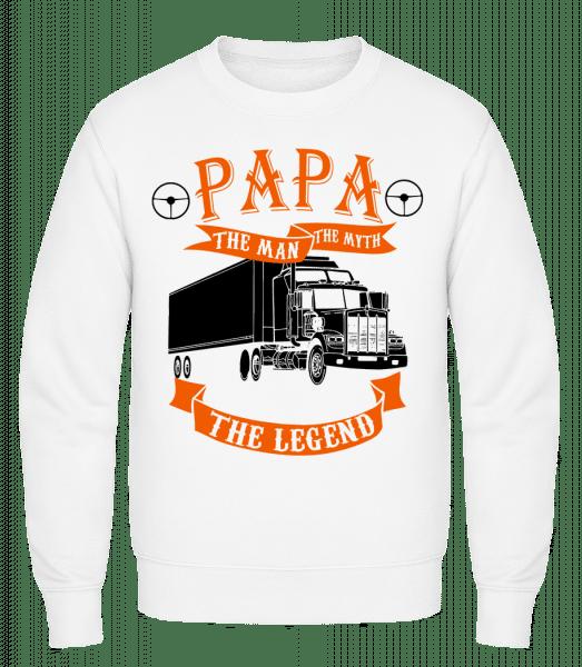 Papa The Legend - Classic Set-In Sweatshirt - White - Vorn
