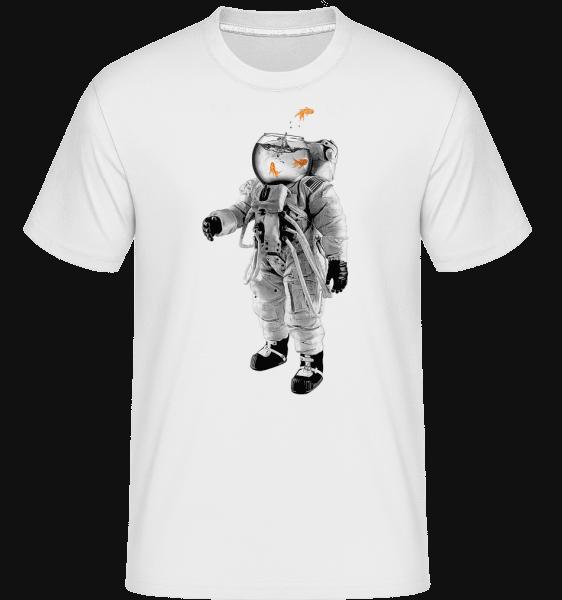 Astronaute Poisson Rouge -  T-Shirt Shirtinator homme - Blanc - Vorn