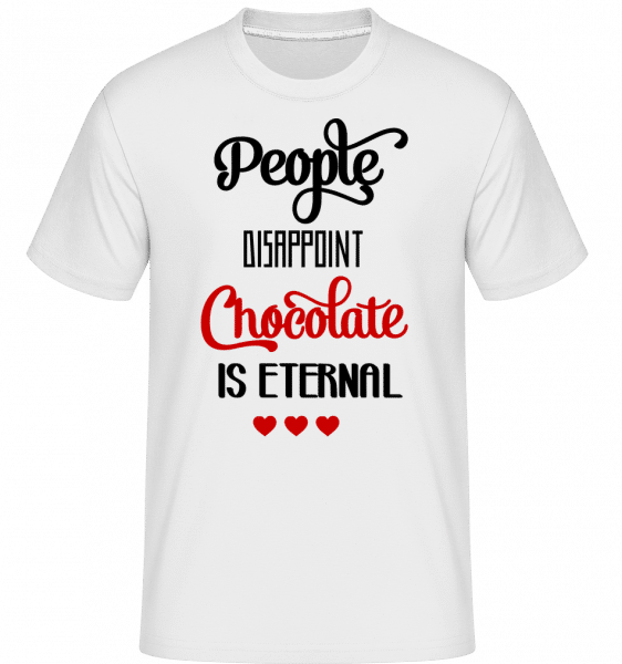 Chocolate Is Eternal -  T-Shirt Shirtinator homme - Blanc - Vorn