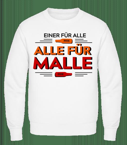 Einer Für Alle Alle Für Malle - Männer Pullover - Weiß - Vorn