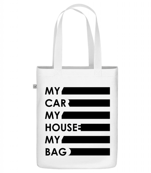 """My Car, My House, My Bag - Organic """"Earth Positive"""" tote bag - White - Vorn"""