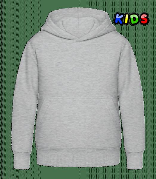 Kinder Hoodie - Grau meliert - Vorn