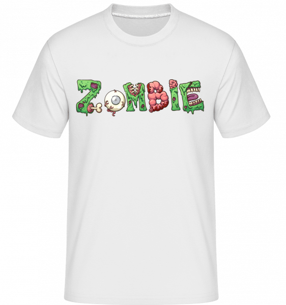 Zombie Font -  Shirtinator Men's T-Shirt - White - Vorn