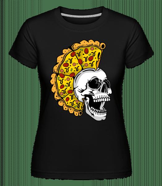 Skull Pizza -  Shirtinator Women's T-Shirt - Black - Vorn