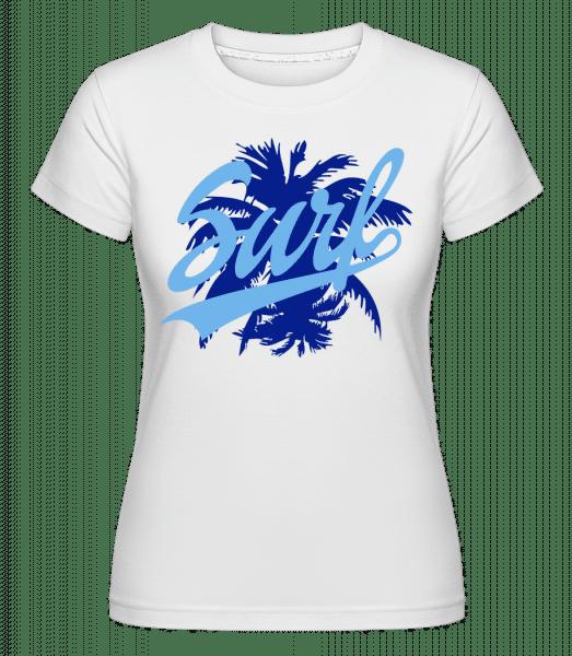 Surf Icon Blue -  Shirtinator Women's T-Shirt - White - Vorn