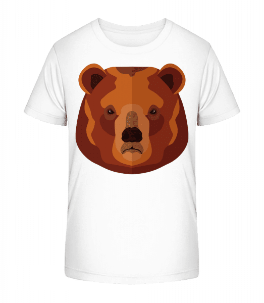 Bear Comic - Kid's Premium Bio T-Shirt - White - Front