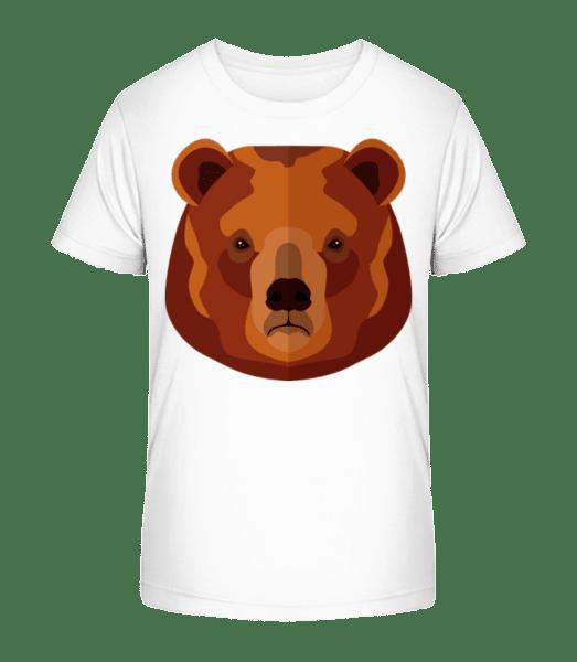 Bear Comic - Detské Premium Bio tričko - Bílá - Napřed
